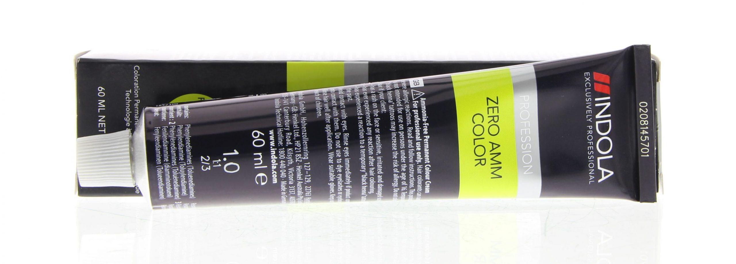 Indola Profession Zero Amm Color No Ammonia Permanent Color Haarverf 6.82  60ml