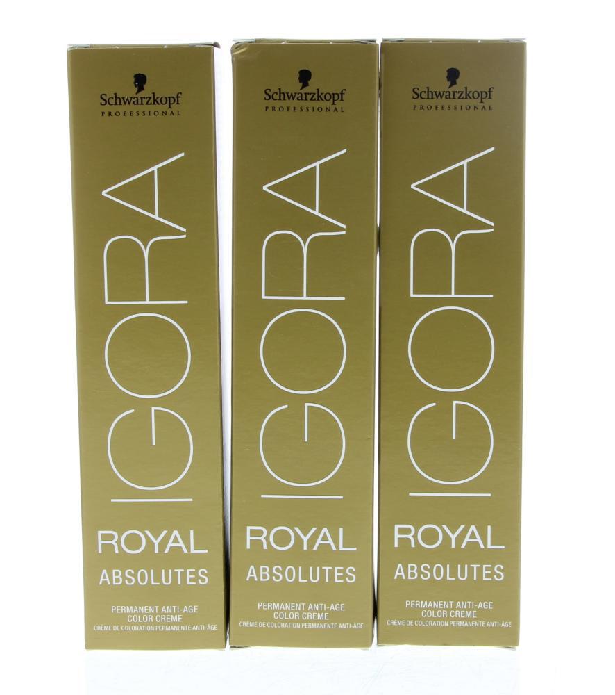 Schwarzkopf Professional Igora Royal Absolutes Permanent Anti-Age Color Creme Haarverf 6-50 60ml
