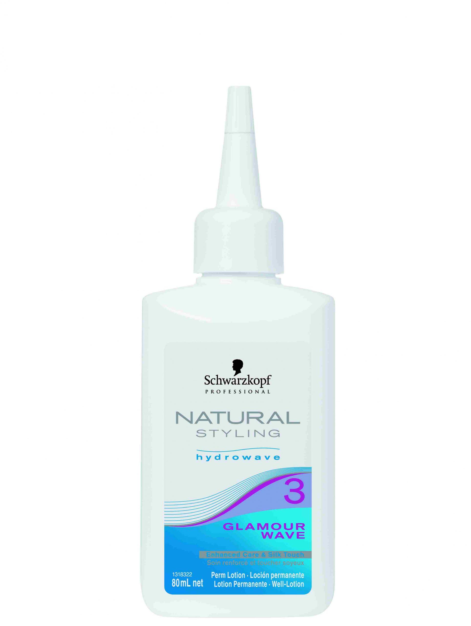 Schwarzkopf Professional Natural Styling Hydrowave Glamour Wave Perm Lotion Permanentvloeistof 3 80ml